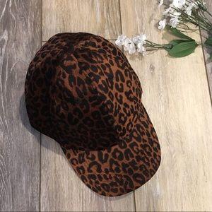NEW Charlotte Russe Velvet Leopard Baseball Hat
